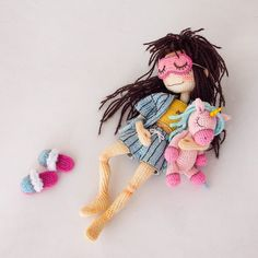 Made by Mint Bunny Crochet Case, Crochet Gifts, Diy Crochet, Crochet Toys, Crochet Doll Tutorial, Crochet Doll Pattern, Crochet Patterns, Crochet World, Knitted Dolls