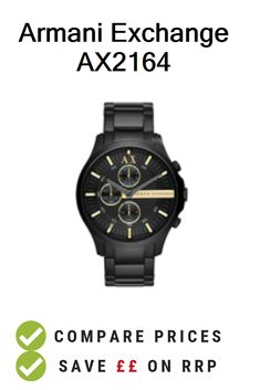 b1f5cd52a0e3 Armani Exchange AX2164 - UK Prices. Armani Exchange Men s Watch AX2164  deals and vouchers.