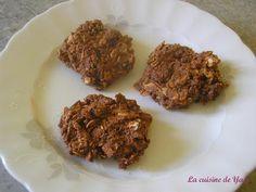 recette Biscuits sans cuisson aux flocons d'avoine, chocolat et noix de coco
