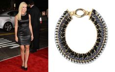 Jennie Garth wearing the Tempest Necklace by Stella & Dot http://www.stelladot.com/sites/michelebritt