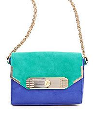 Beautiful colorblocked Spring pouchette handbag from Sam Edelman $198.00