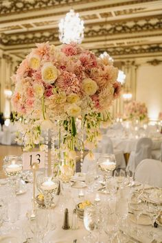Romantic florals and candlelit ~  U Me Us Studios, Vo Floral Design | bellethemagazine.com