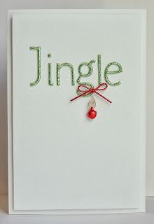 Art Keeps Me Sane: Jingle All the Way! Love this card using glitter thickers - could mass produce using die-cut letters and Pow Glitter paper. Watercolor Christmas Cards, Christmas Card Crafts, Christmas Canvas, Xmas Cards, Christmas Greetings, Holiday Cards, Christmas Ideas, Cool Cards, Diy Cards