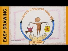 World Consumer Rights Day 2021 | Consumer Rights Day Drawing Step by Step | National Consumers Day - YouTube Early Childhood Education Programs, Drawing Competition, Step By Step Drawing, World, Drawings, Youtube, Sketches, The World, Drawing