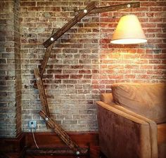 Rustic Arm Lamp by NewLighting on Etsy