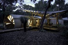 Unusual Artist's Holiday Retreat - cylindrical cabin, with sleeping pods