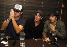 Matt Davis, Michael Trevino, and Ian Somerhalder answer questions from their adoring fans at the BloodyNightCon Press Conference in Spain.