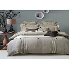 Fashion Bedding-Buttons and Stripes