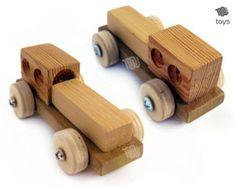 Tractores con remolque-juguete de madera por WoodHandcraft en Etsy