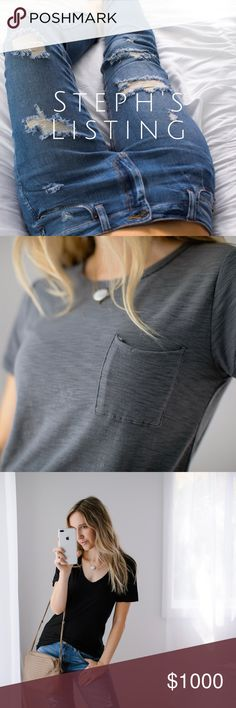11th Street Shopping Bag 5 ITEMS: Soft Skinny Boyfriend Jeans (7) $54, My Favorite Tee | Gray (M) $36, My Favorite Tee | Black (M) $36, My Favorite Tee | White (M) $36, Lace Up Comfy LS | Gray (M) $32. Plus discount. Purchase date: 8/16. 194 total. Plus 10% ($19) discount . $175 total. Other