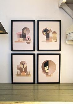 Print & Ink: Great Handmade Finds for Art Lovers. Architecture Art Design, Bauhaus Design, Lovers Art, Digital Illustration, Signage, Images, Gallery Wall, Typography, Graphic Design