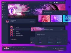 Exploration for the new jukebox mac applicationCheck the detail viewOriginal work by@uixninjahttps://dribbble.com/shots/3177027-DI-FM