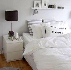 Minimalist Apartment Decor - Modern and Luxury Ideas - Bedroom Decor ideas Minimalist Apartment, Minimalist Bedroom, Minimalist Pillows, Modern Minimalist, Suites, Dream Bedroom, Master Bedroom, Bedroom Small, My New Room