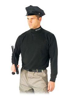 987d746301 Black Security Mock Turtleneck Army Shirts