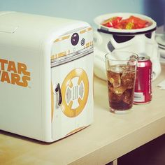 Star Wars fridge to keep the force strong inside your brew, brew. #icantbelievetheymakethat #starwars #geeky #fridge #fun #sweet #coolgift #christmas #nice