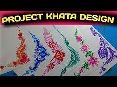 Border and corner design for students project khata. Frame Border Design, Boarder Designs, Page Borders Design, Background Designs, File Decoration Ideas, Page Decoration, Decorations, Henna Patterns, Peyote Patterns