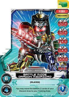 Battle Mode Dragon Megazord Power Rangers Trading Card