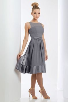 Beautiful short and flattering bridesmaid dress and it comes in tons of colors....Style 920: Bridesmaids, Prom, Special Occasion & Evening: Bari Jay and Shimmer. maybe mine