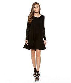 35e7f3ec72 Karen Kane Studded-Sleeve Swing Dress Swing Dress