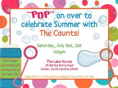 Crossing the Bugger-Dixon Line: 4 Ways to Make Your Bubble Party Invitations POP!