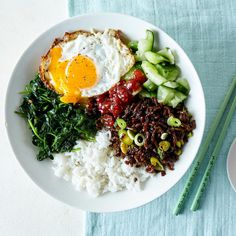 Korean Beef Bibimbap & Smashed Cucumber
