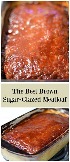 Meatloaf is one of Americas favorite comfort foods. This Brown Sugar Glazed Meatloaf is a little on the sweet side but certain to become a family favorite. Serve it with a side of mashed potatoes and something green (green beans or broccoli, perhaps? Classic Meatloaf Recipe, Good Meatloaf Recipe, Meat Loaf Recipe Easy, Best Meatloaf, Meatloaf Recipes, Beef Recipes, Sides For Meatloaf, Southern Meatloaf Recipe, Cooking Meatloaf