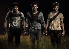 The Maze Runner - Minho (Ki Hong Lee), Thomas (Dylan O'Brien), & Newt (Thomas Sangster)