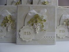 Dorota_mk First Communion Cards, First Holy Communion, Communion Cakes, Hobbies And Crafts, Diy And Crafts, Invitation Cards, Invitations, Easter Religious, Catholic Gifts