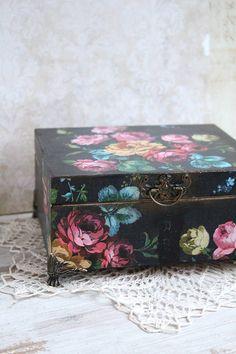 Krabičky - Nostalgické ruže - 6340812_