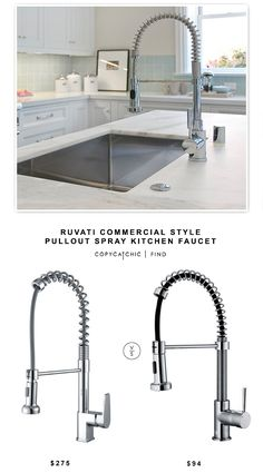 @ruvati Commercial Style Pullout Spray Kitchen Faucet $275 vs @overstock Pull Out Kitchen Faucet $94