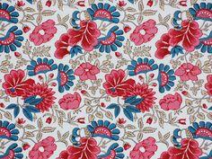 Kattuner: Balsamin - cotton fabric from mi Century, Oslo Norse Folkemuseum Vintage Textiles, Antique Prints, Romanticism Artists, Norwegian House, Bandana Design, Lace Print, Fabric Samples, Hand Spinning, Spinning