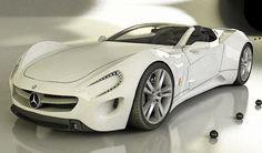 "Toys for Boys: Beautiful white mercedes. Share if you like Kugati ""enjoy accessories, fashion, lifestyle"""