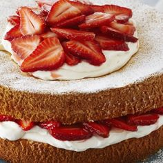 This Month's Recipes Anna Olson, Strawberry Cream Cakes, Strawberries And Cream, Buttermilk Chicken, Tv Chefs, Canadian Food, Sponge Cake, Food Network Recipes, Cake Recipes
