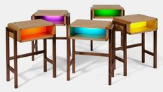 night light table - such a brilliant idea for kids who are getting a bit too old for a night light but still have anxiety - must make!
