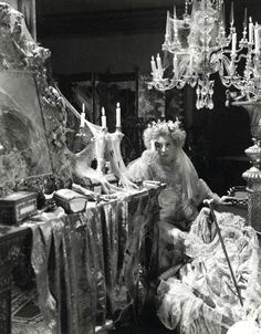 """Miss Haversham from """"Great Expectations"""" created the ultimate Type of the half-crazy old woman abandoned at the alter, and living like a hermit."""
