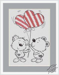 CROSS STITCH KITS - LUCA-S - For Begginers - Two Bears. Вишивка Хрестиком Макраме daa4206b7aca6