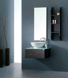 """Our bold and modern Virtu USA Primo 24"""" Single Sink Bathroom Vanity features a ceramic bowl vessel sink. Imagine having this bold vanity in your bathroom. You definitely would be making a statement."""