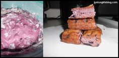 Blueberry angelfood cake