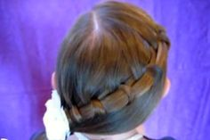 french braid  | how to do Spiral French Braid Side Ponytail hair style with step by ...