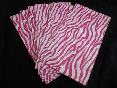 10 PINK Zebra print birthday party favor gift by BudgetBirthdays. $7.00, via Etsy.
