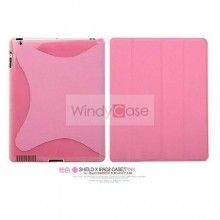 Shield X iPad 2 case with smart cover- pink