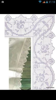 Filet Crochet, Crochet Borders, Crochet Doilies, Crochet Lace, Crochet Patterns, Beautiful Crochet, Hand Stitching, Needlework, Bargello