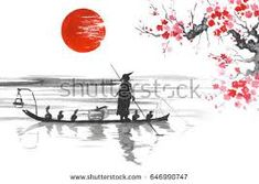Image result for japanese art in boat