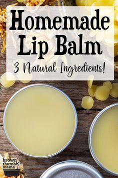 Homemade Lip Balm, Diy Lip Balm, Diy Savon, Homemade Beauty Products, Natural Products, Lush Products, Health Products, Beeswax Lip Balm, Lip Balm Recipes