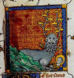 Seven-headed beast trampling saint. France c.1325-50.