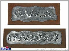 Estaño repujado por Arancha.         #manualidades #pinacam #estaño #aluminio  www.manualidadespinacam.com