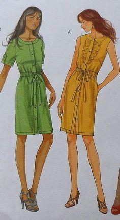 Dress Sewing Pattern UNCUT Butterick B5600 by latenightcoffee