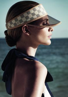Louis Vuitton visor hat must have for St. Tropez