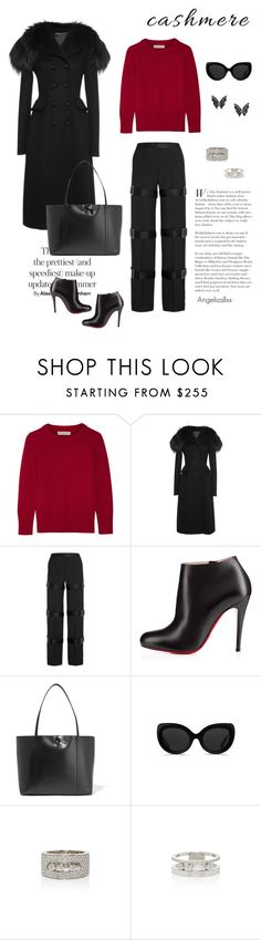 """""""Cozy and elegant cashmere"""" by angelicallxx ❤ liked on Polyvore featuring Burberry, Dolce&Gabbana, Alexander McQueen, Christian Louboutin, Kara, 3.1 Phillip Lim, Messika and cashmere"""