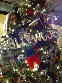 Movie Themed Popcorn Christmas Trees Holiday Office